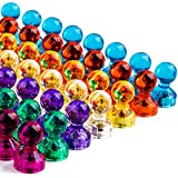 GREATMAG 56 Colorful Push Pin Magnets, 7 Assorted Color Strong Magnetic Push Pins Perfect for Home, School, Classroom and Office Magnets, Magnets for Refrigerator Calendar Map and Whiteboard Magnets