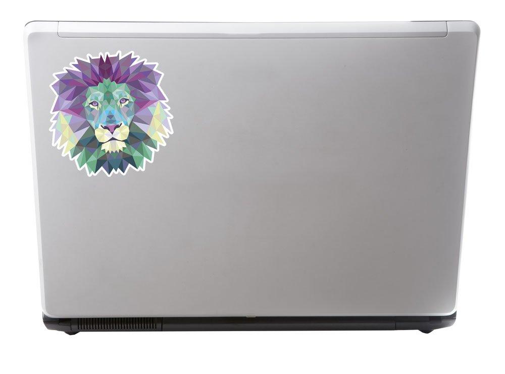 10cm Tall. 3 x 10cm Funky Lion Tiger Husky Vinyl Stickers Decals Laptop Car Bike Cool #6224