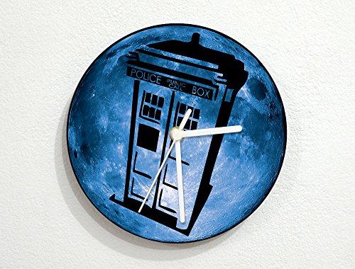 (Blue Moon - Doctor Who - Tardis - Wall Clock)