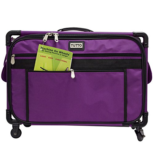 Tutto 22`` Large Sewing Machine Bag on Wheels (Purple) supplier_mysewingsupply by willynsional