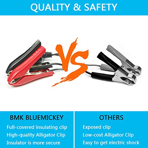BMK 12V 5A Smart Battery Charger Portable Battery Maintainer with Detachable Alligator/Rings/Clips Fast Charging Waterproof Trickle Charger for Car Boat Lawn Mower Marine Sealed Lead Acid Battery by BMK BLUEMICKEY (Image #3)
