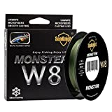SeaKnight Monster W8 Braided Lines 8 Strands Weaves 150M/164Yards Super Smooth PE Braided Multifilament Fishing Lines Sea Fishing Low-Vis Green 80LB Review