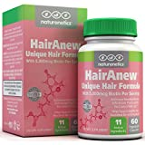 Hair Loss Vitamin Deficiency HairAnew (Unique Hair Growth Vitamins with Biotin) - Tested - For Hair, Skin & Nails - Women & Men - Addresses Vitamin Deficiencies That Could Be The Cause of Hair Loss / Lack of Regrowth 60 VCaps