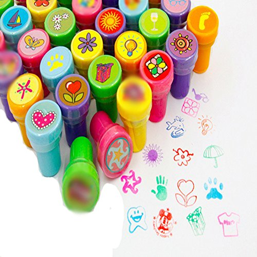 9Snail 36PCS. Self-ink Stamps Kids Party Favors Event Supplies for Birthday Party Gift Toys Boy Girl Goody Bag Pinata Fillers Christmas Pinatas For Sale