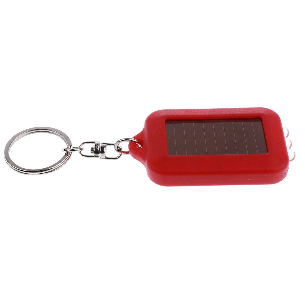 Sharplace Tragbare Mini Solar LED Taschenlampe Lampe Licht Schl/üsselanh/änger Schl/üsselring