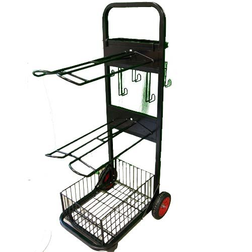 Fold Up Tack Room on Wheels Handy in the barn or on the go at shows! Holds two saddles. Hangers for ()