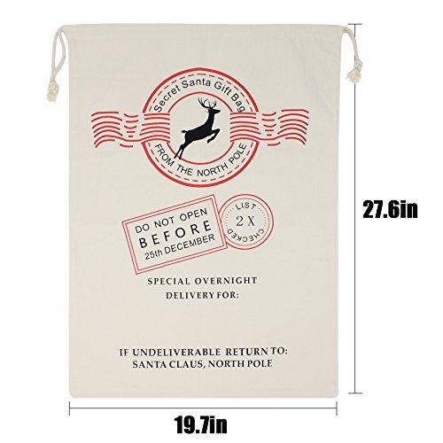 HOOPLE X'mas Present Sacks Christmas Bags for Kids Personalize Christmas Gift Wrap Santa Sacks (Random-6 packs) by Hoople (Image #4)