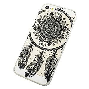 ABC(TM) Black Transparent Dream Catcher Pattern Hard Case Cover For iPhone 5C
