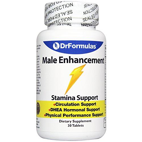 DrFormulas Male Enhancing Pills for Stamina, Increase Size with Terrestris, Tongkat, Arginine, and Caffeine, 30 tablets
