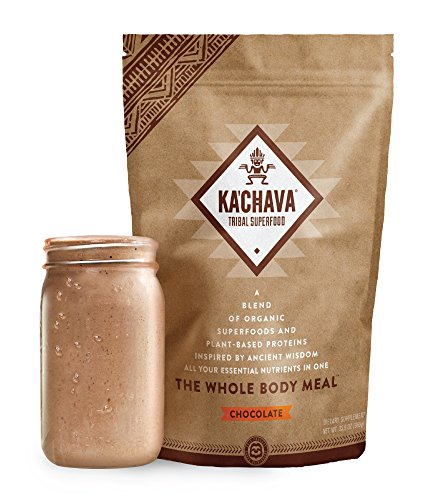 - Ka'Chava Meal Replacement Shake - A Blend of Organic Superfoods and Plant-Based Protein - The Ultimate All-In-One Whole Body Meal. (Chocolate) 960g Bag = 15 meals (64g serving size)