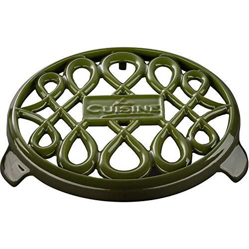 (La Cuisine LC 8550 7 In. Round Cast Iron Trivet,)