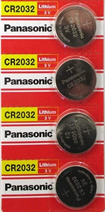 panasonic cr 2032 3v  : (4pcs) PANASONIC Cr2032 3v Lithium Coin Cell Battery for ...