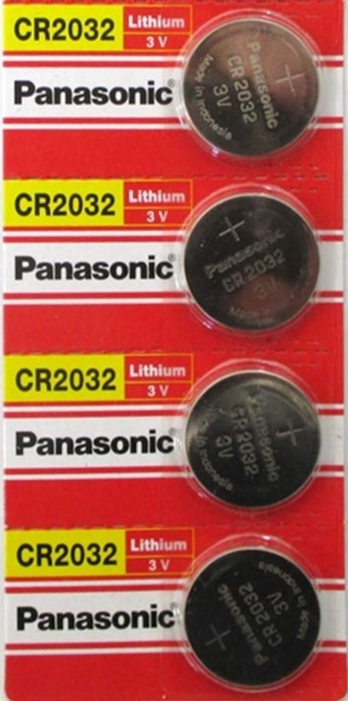 Panasonic CR2032 3V Lithium Coin Battery (Pack of 4)