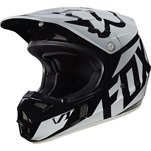 Small Race Helmet (T2017 Fox Racing V1 Race Helmet - Youth/Kids Medium - Black)