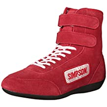 Simpson 28900R Red High Top Leather Driving Shoe