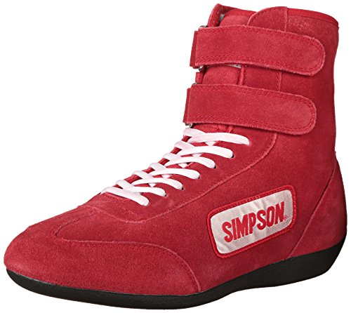 simpson-28900r-red-high-top-leather-driving-shoe
