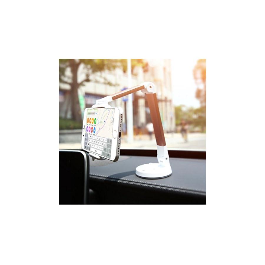 Boyiya Universal Socket Desktop Phone Holder Stand, 360 Degree Rotating Pop Car Phone Holder