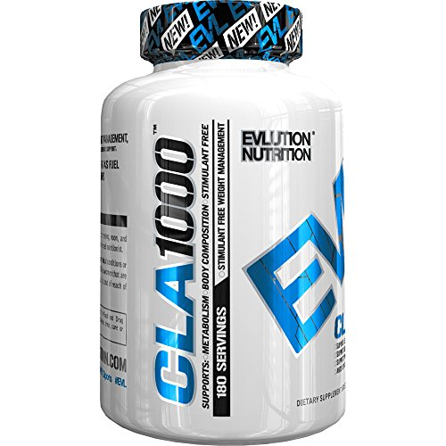 Evlution Nutrition – CLA 1000 Conjugated linoleic acid, 180 Serving Soft Gel, Weight Loss Supplement, Stimulant-Free