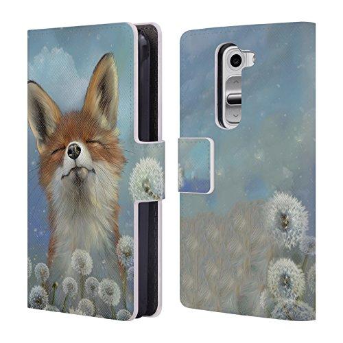 Official Ash Evans Dandelion Animals Leather Book Wallet Case Cover For LG G2 mini / D618 Dual SIM ()