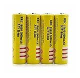 18650 3.7V Button Top Battery, 4Packs 5000mah