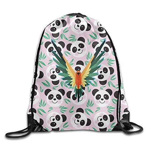 PIHJE Drawstring Backpack,Logan Parrot Paul unique Logo Bag,ort Gym Sack Drawstring Backpack Bag