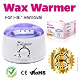 Hot Wax Warmer for Hair Removal Melts Hard or Soft Wax for at Home and Spa Salon Waxing-Portable Electric Plug-in Waxing Heater for Bikini Brazilian Facial and Total Body Waxing-Single Melting Pot