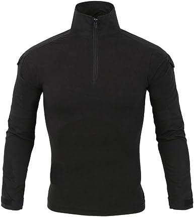 LANBAOSI – Camisa de combate militar para hombre Airsoft Shirt, traje de camuflaje, uniforme táctico, secado rápido de manga larga, impermeable: Amazon.es: Ropa y accesorios