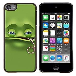 LECELL--Funda protectora / Cubierta / Piel For Apple iPod Touch 6 6th Touch6 -- Divertido de la rana verde --
