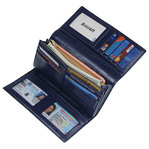 Blocking Wallet Trifold Ladies Leather