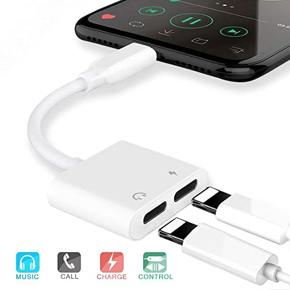 headphone-jack-adapter-for-iphone-xs-dual-headphone-jack-audio-charger-splitter-adapter-for-iphone-xs-iphone-8_8plus-iphone-7_7plus-[audio-+charge+volume-control+call]-support-ios-11-or-higher by pilloit