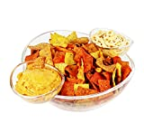 Estilo Chips and Dips Snack Bowl Set, Clear