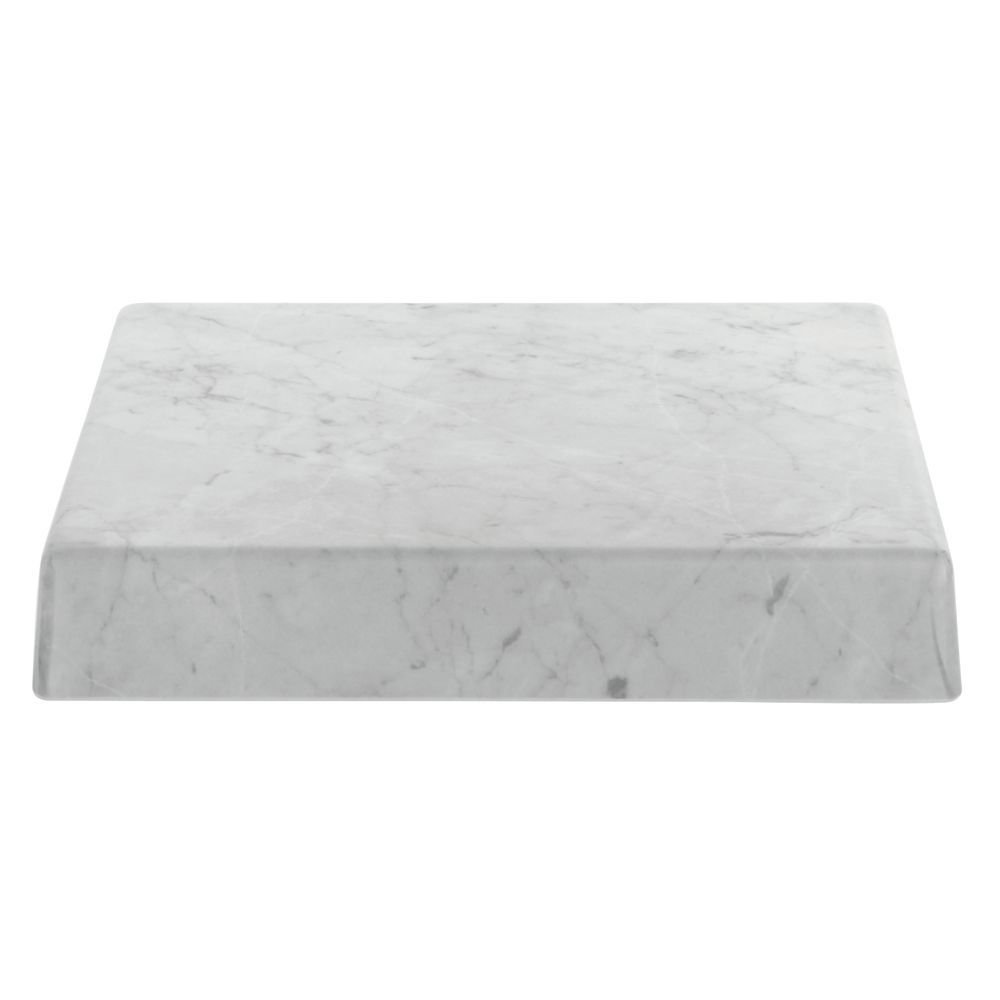 Marble Look Display Riser Square White - 12'' L x 12''W x 2''H