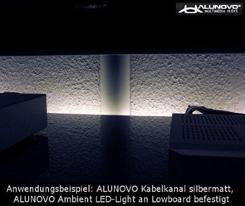 Inhalt: 1 St. 500 x 80 x 20 mm inox L x B x H geb/ürstet Alunovo Kabelkanal