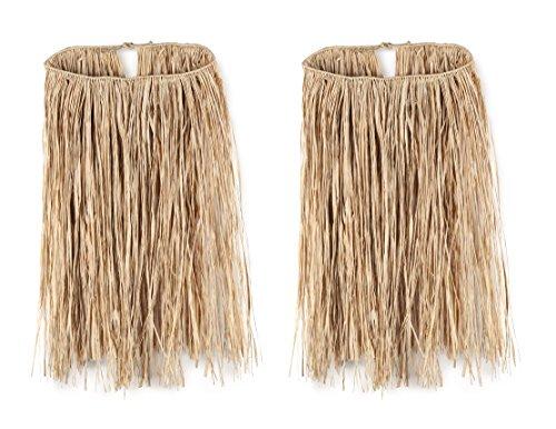 Skirt Hula Halloween (Beistle S50433NAZ2, 2 Piece Extra Large Raffia Hula Skirts, 36'' Width x 28'' Length (Natural))