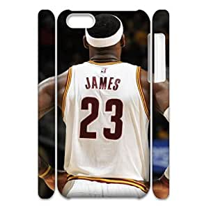 Iphone 5C 3D Customized Phone Back Case with LeBron James Image