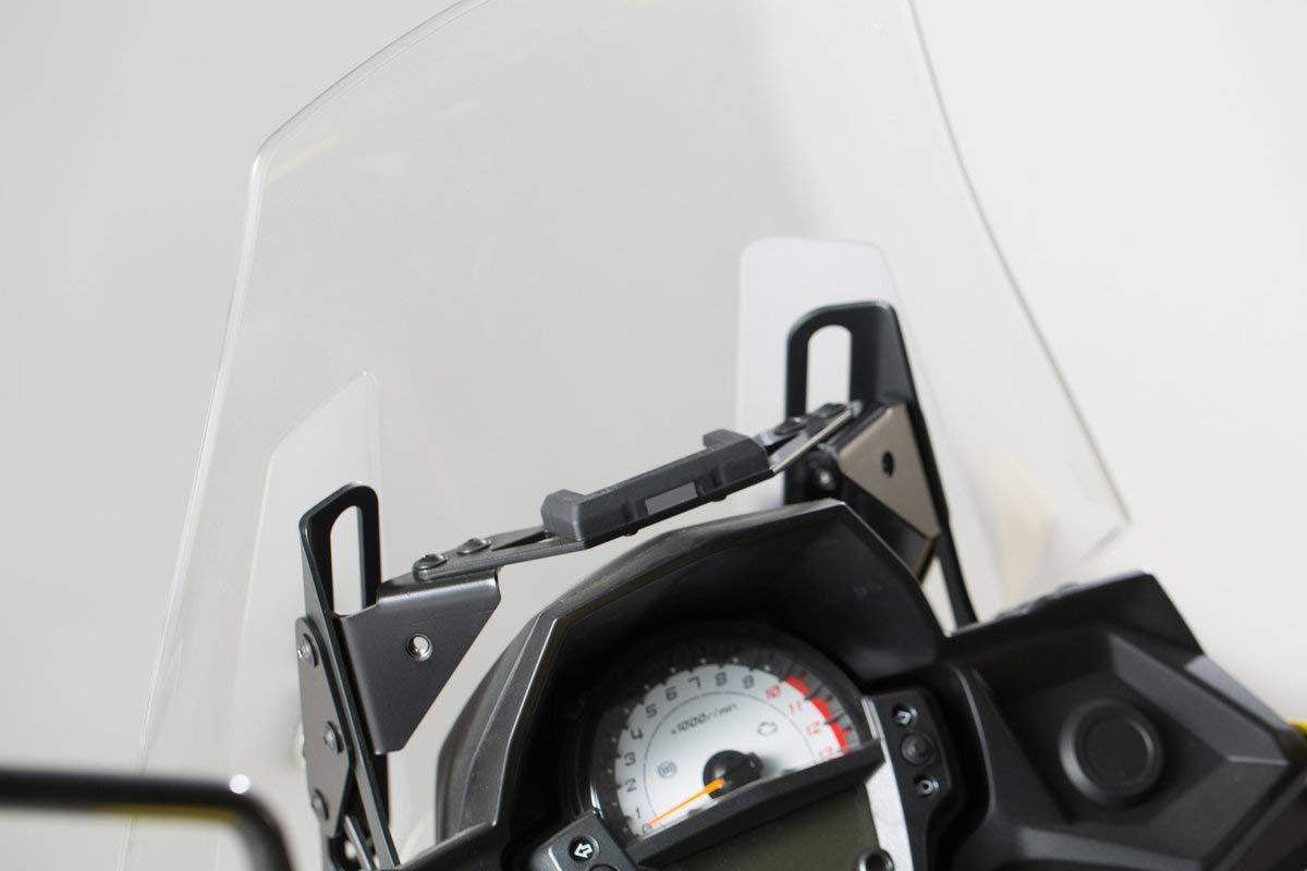 SW-MOTECH Navi-Halter im Cockpit Schwarz f/ür Kawasaki Versys 650 15-