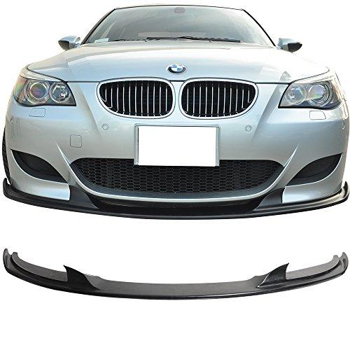 IKON MOTORSPORTS Front Bumper Lip Fits 2006-2010 BMW E60 M5 Black PU