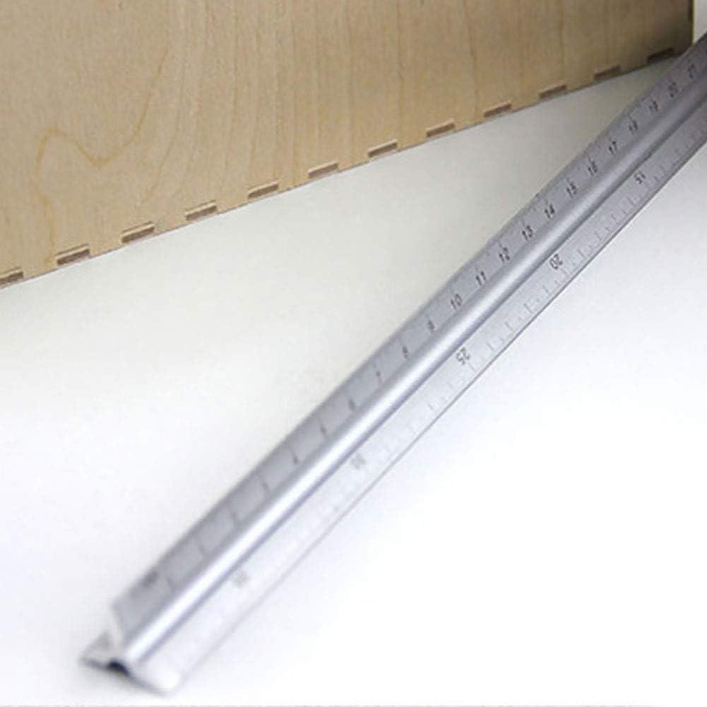 Zollstock 30cm Silber Architekt Klar Aluminium Legierung Technische Dreieck Akkurat Ingenieur
