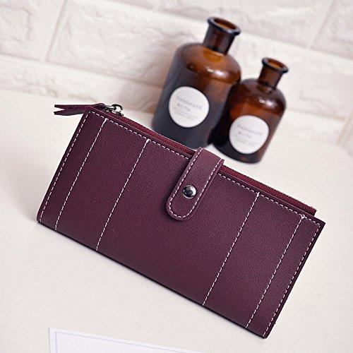 Kaxima Lady Geldbörse Geldbeutel Veranstalter Multi-Fach Geldbörse große Volumen Handtasche tragbare Handtasche Tasche mit Reißverschluss