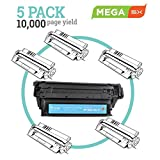 MEGA Compatible 5-Pack High Capacity Toner Cartridge (eq. 5-Pack) Used with HP12A (Q2612A) Black