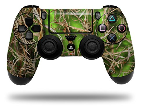 Vinyl Skin Wrap for Sony PS4 Dualshock Controller WraptorCamo Grassy Marsh Camo Neon Green (CONTROLLER NOT INCLUDED)