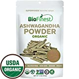 Cheap Biofinest Ashwagandha Root Powder (Indian Ginseng) – 100% Pure Freeze-Dried Antioxidant Superfood – USDA Organic Vegan Raw Non-GMO – Boost Stamina – for Smoothie Beverage Blend (4 oz Resealable Bag)