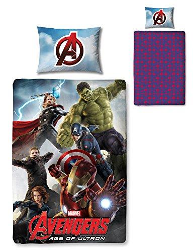 Reversible Single Duvet - Marvel Avengers Ultron Reversible Single Duvet Cover & Pillow Set