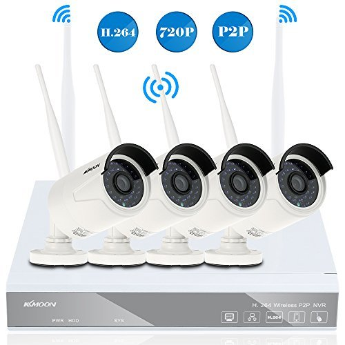 KKmoon Wireless Security Camera System 4CH 720P WiFi IP Came