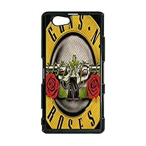 Hot Logo Guns N' Roses Phone Case Cover For Sony Xperia Z1 Compact/Z1 mini Guns N' Roses Luxury Pattern