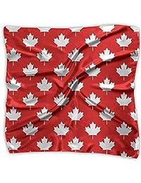 Women Vintage Canada Maple Leaf Pattern Print Square Handkerchiefs Bandanas Head & Neck Tie Scarf M