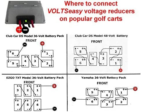 club car golf cart 48v wiring diagram amazon com tecscan voltseasy golf cart voltage reducer for 36v  golf cart voltage reducer for 36v