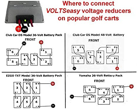 Amazon Com Tecscan Voltseasy Complete Golf Cart Voltage Reducer For 36v 48v 20 Amp 240 Watt Sports Outdoors