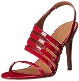 Calvin Klein Women's Mirian Dress Sandal, Lipstick Red, 6.5 M US