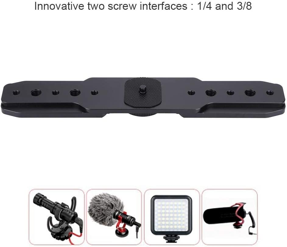 Taidda External Arm Microphone Expansion Plate Durable Sturdy Stabilizer Expanding Plate with Innovative 1//4 3//8 Screw Interfaces for DJI Feiyu Gimbal